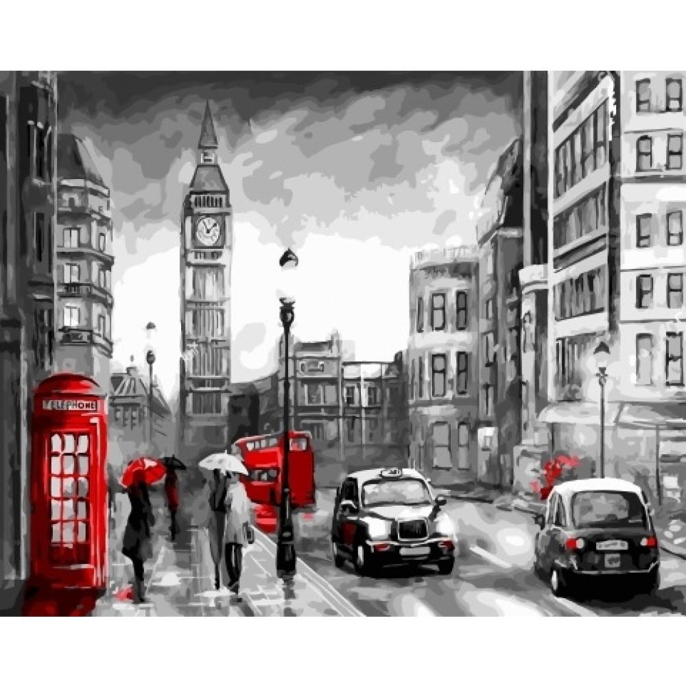 Ночной Лондон 40х50 раскраска