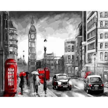 Ночной Лондон картина по номерам 40х50