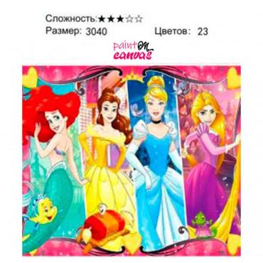 Disney картина по номерам 30х40