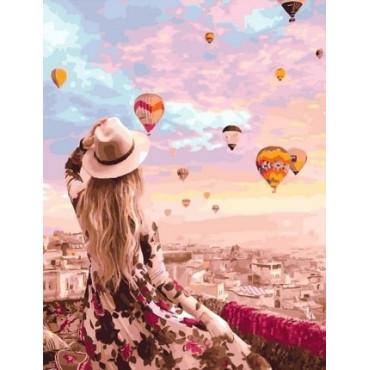 Воздушные шары картина по номерам 40х50