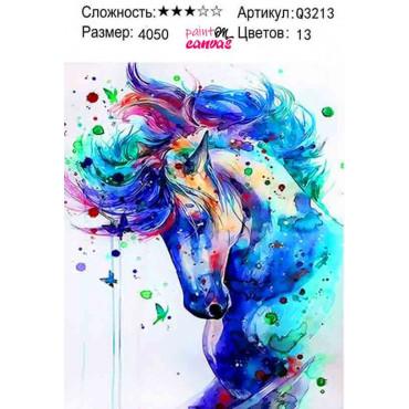 Абстракция лошади картина по номерам 40х50