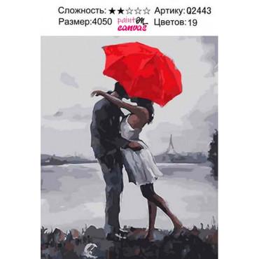 Дождливая любовь картина по номерам 40х50