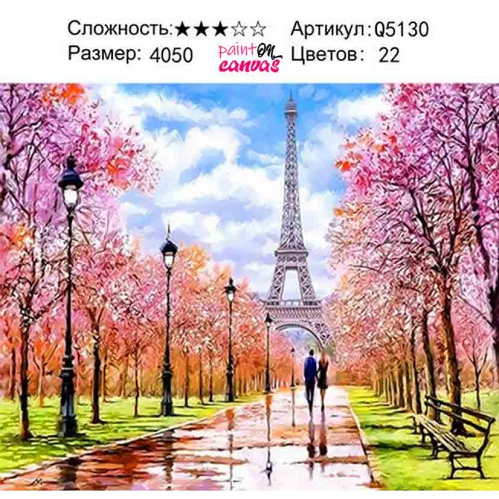Париж после дождя 40х50 раскраска по номерам