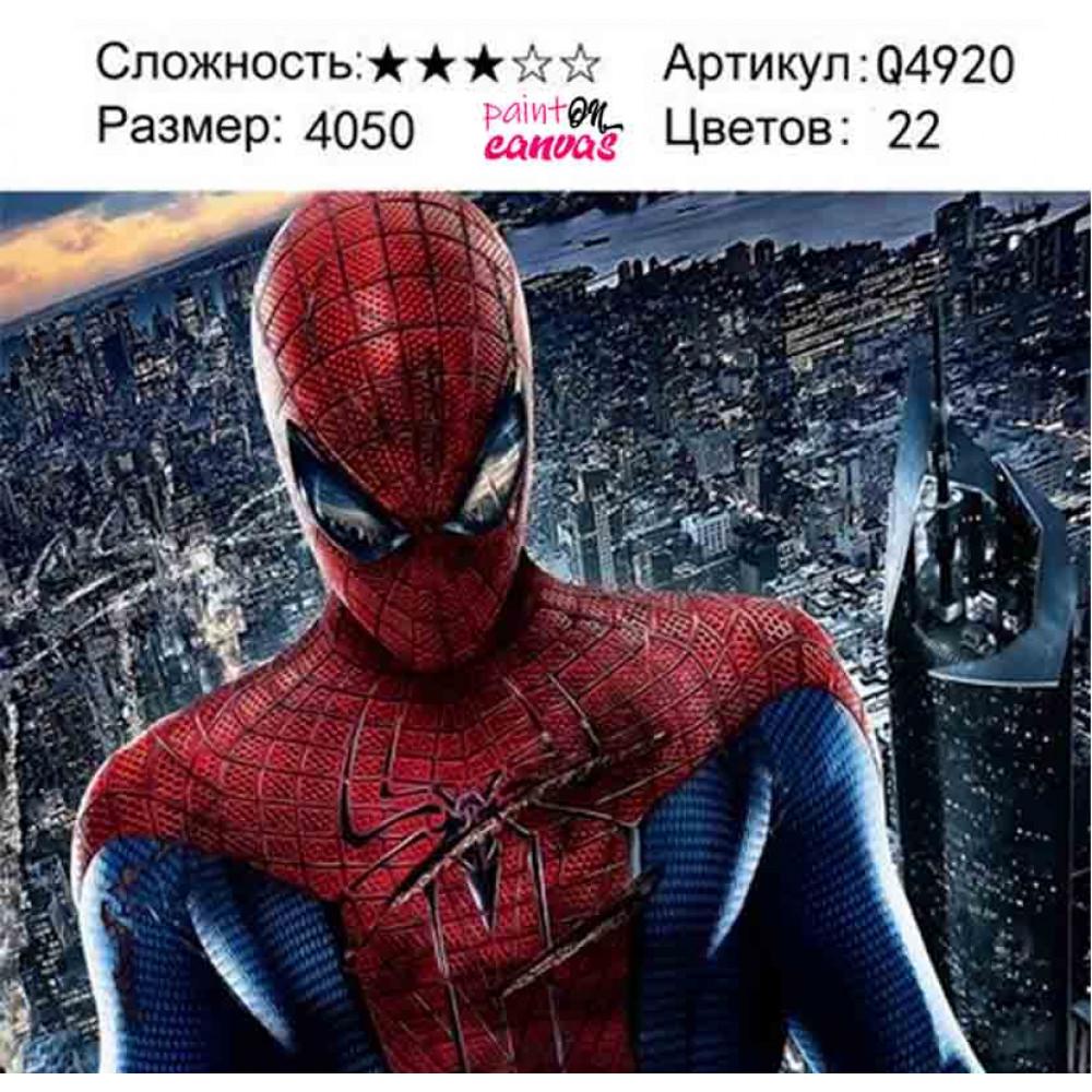 Новый человек паук 40х50 раскраска по номерам
