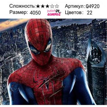 Новый человек паук картина по номерам 40х50