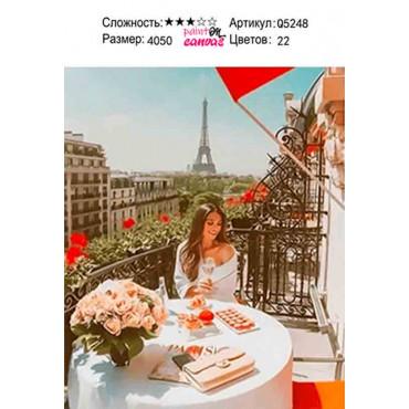 Девушка в Париже картина по номерам 40х50
