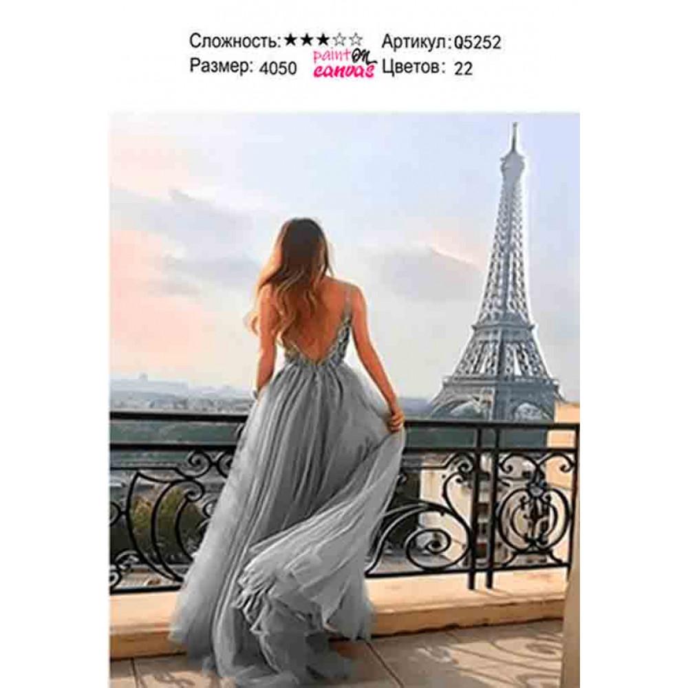 Роскошь в Париже 40х50 раскраска