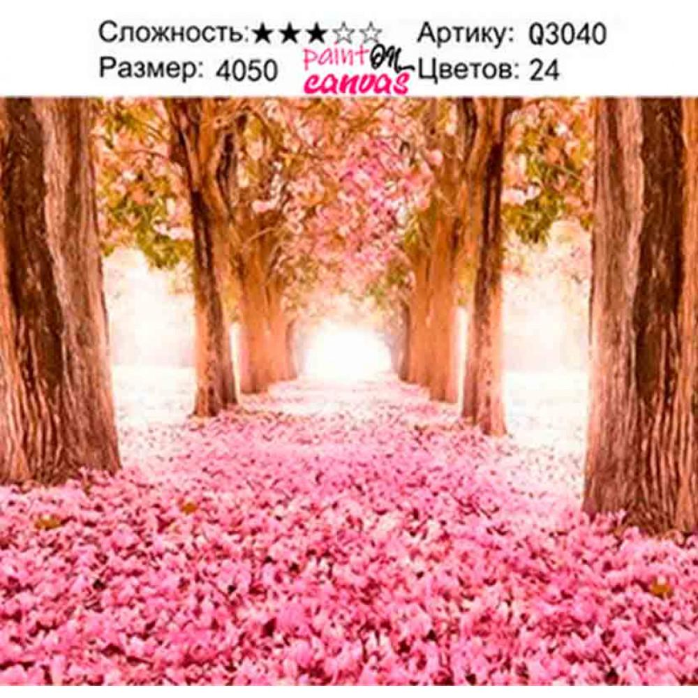 Цветочная аллея картина по номерам 40х50