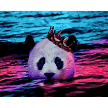 Королевская панда картина по номерам 40х50