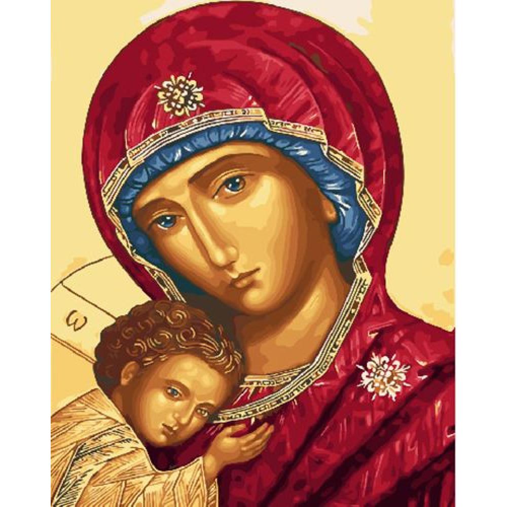 Пресвятая Богородица картина по номерам 40х50