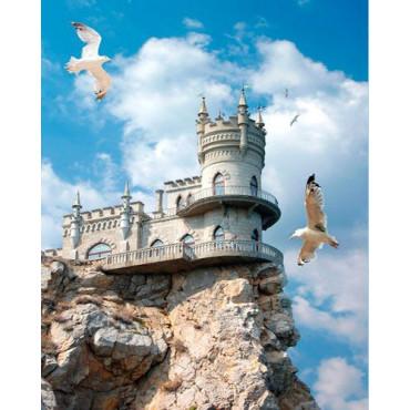 Замок над обрывом картина по номерам 40х50