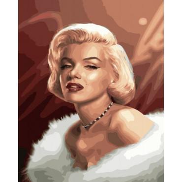 Мэрилин Монро картина по номерам 40х50