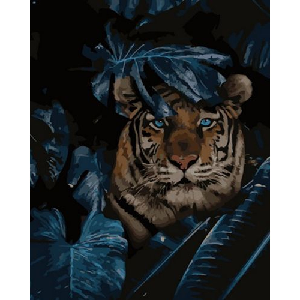Портрет тигра картина по номерам 40х50