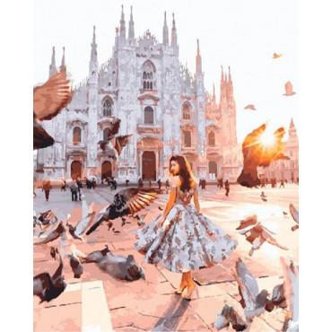 Миланский собор картина по номерам 40х50