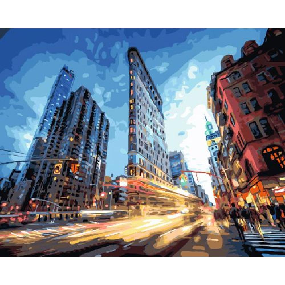 Нью Йорк картина по номерам 40х50