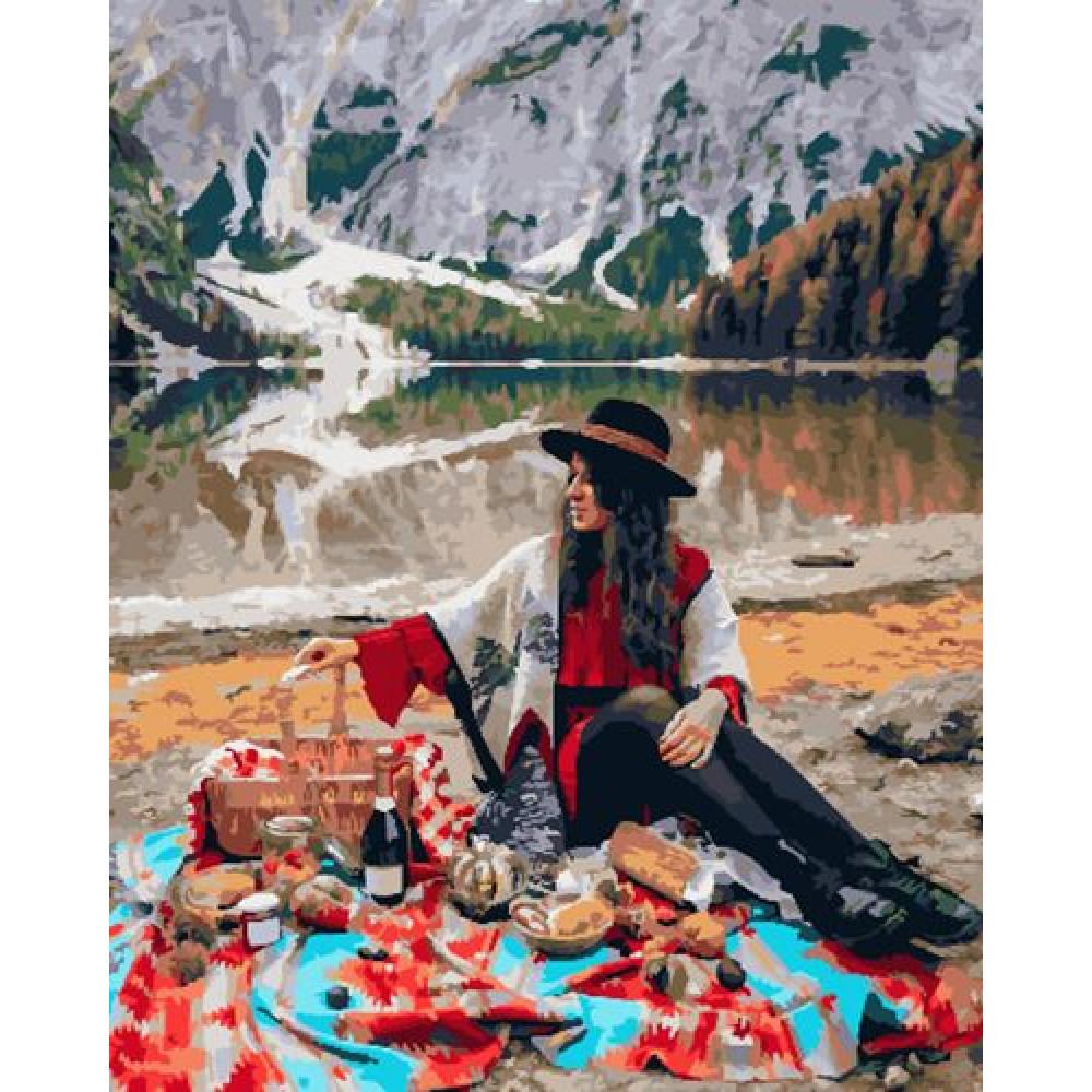 Пикник на природе картина по номерам 40х50