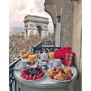 Завтрак в Москве картина по номерам 40х50