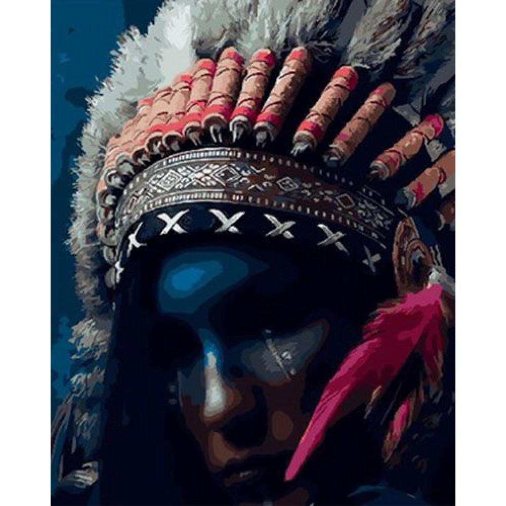 Вождь племени картина по номерам 40х50