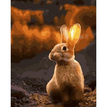 Кролик в лесу картина по номерам 40х50