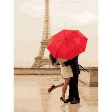 Любовь в Париже картина по номерам 40х50