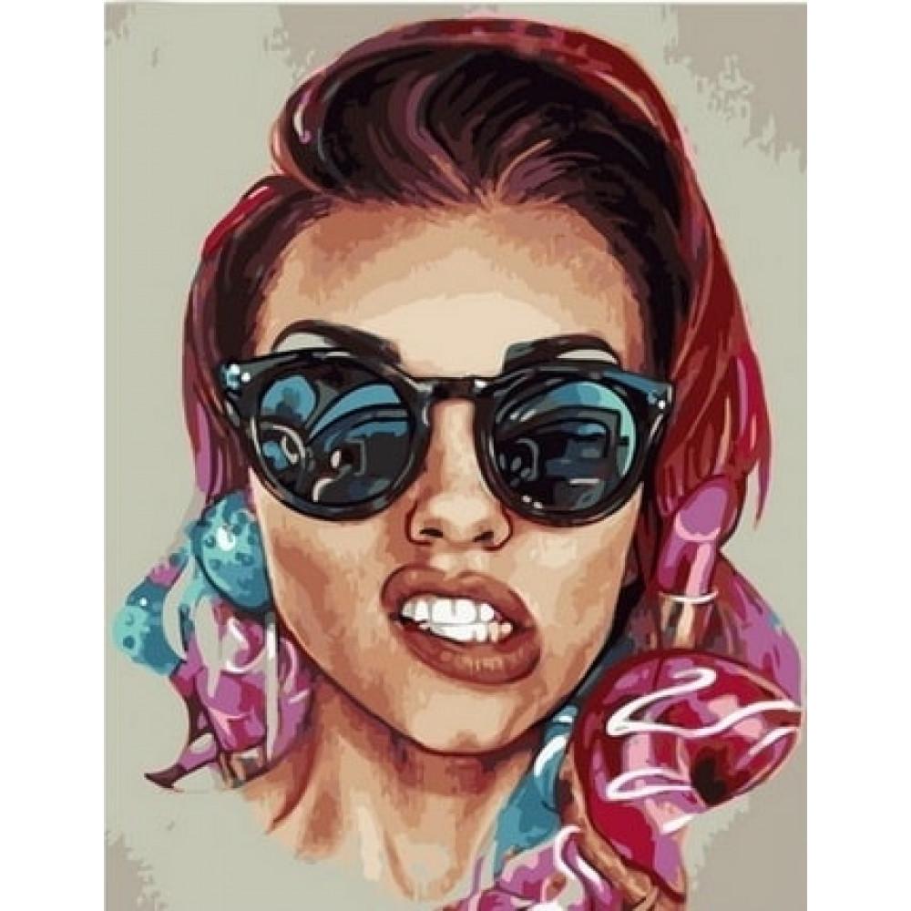 Женщина на стиле картина по номерам 40х50