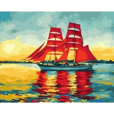 Алые паруса картина по номерам 40х50