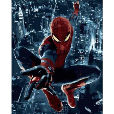 Человек-паук картина по номерам 40х50