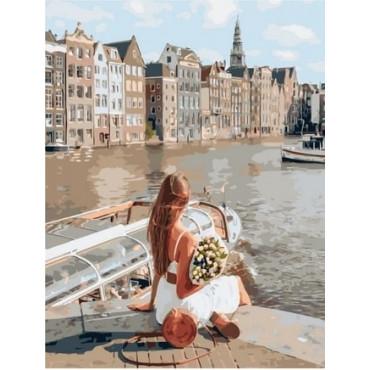 Женщина в Венеции картина по номерам 40х50