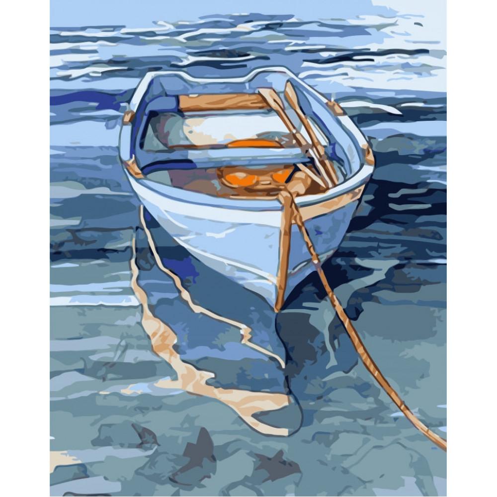 Лодка картина по номерам 40х50