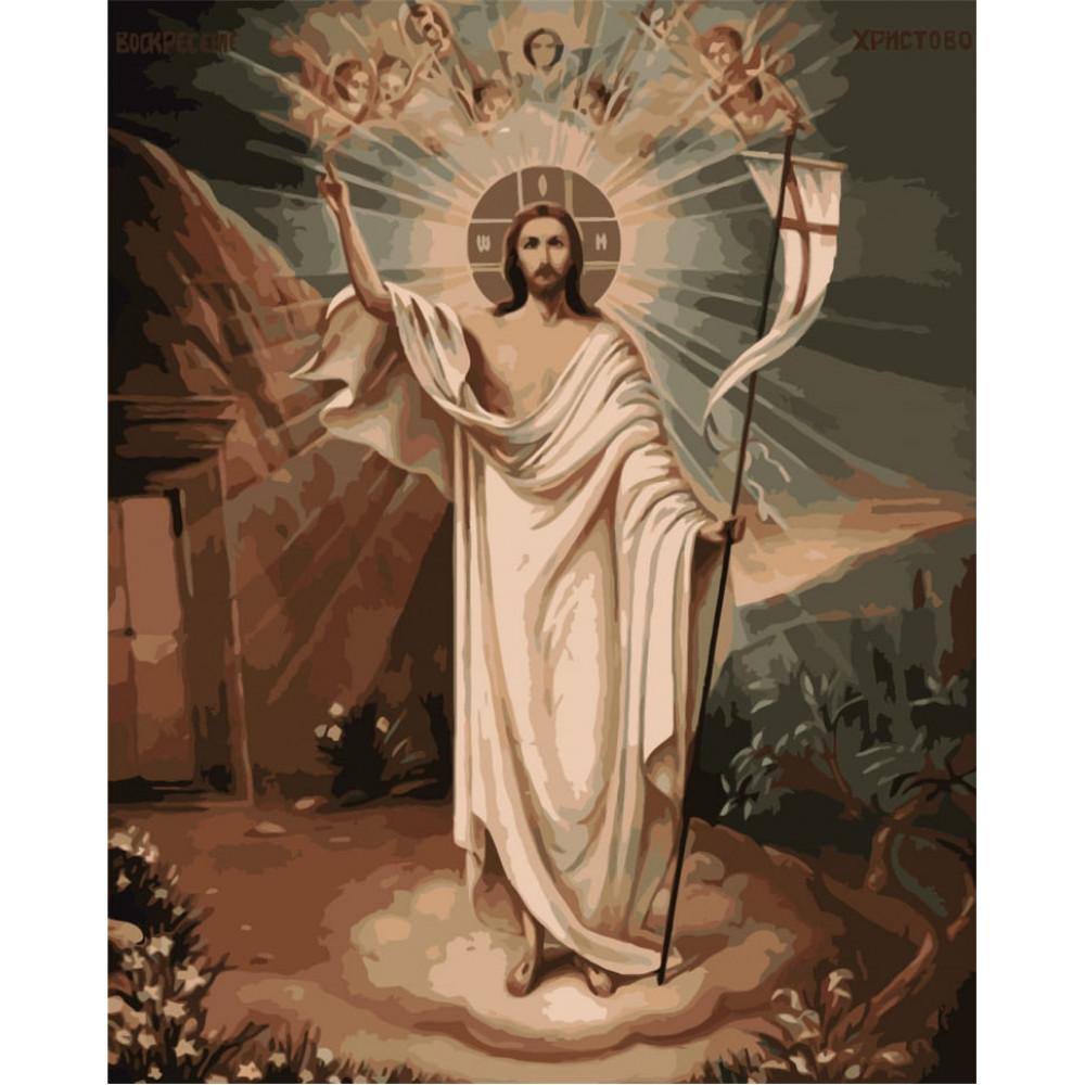 Иисус Христос картина по номерам 40х50