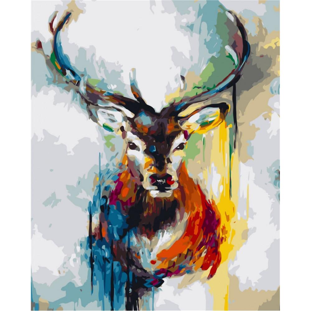 Абстракция оленя картина по номерам 40х50