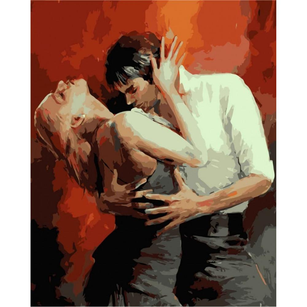 Страстный танец картина по номерам 40х50