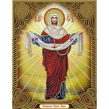 Покров Пресвятой Богородицы алмазная мозаика 40х50