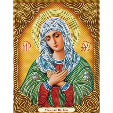 Икона умиление алмазная мозаика 40х50
