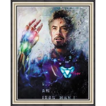 Железный человек алмазная мозаика 40х50