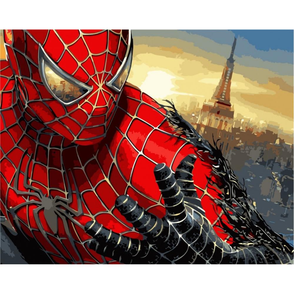Человек паук: Враг в отражении картина по номерам 40х50