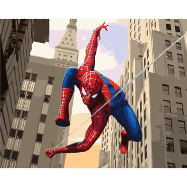 Spider-man картина по номерам 40х50