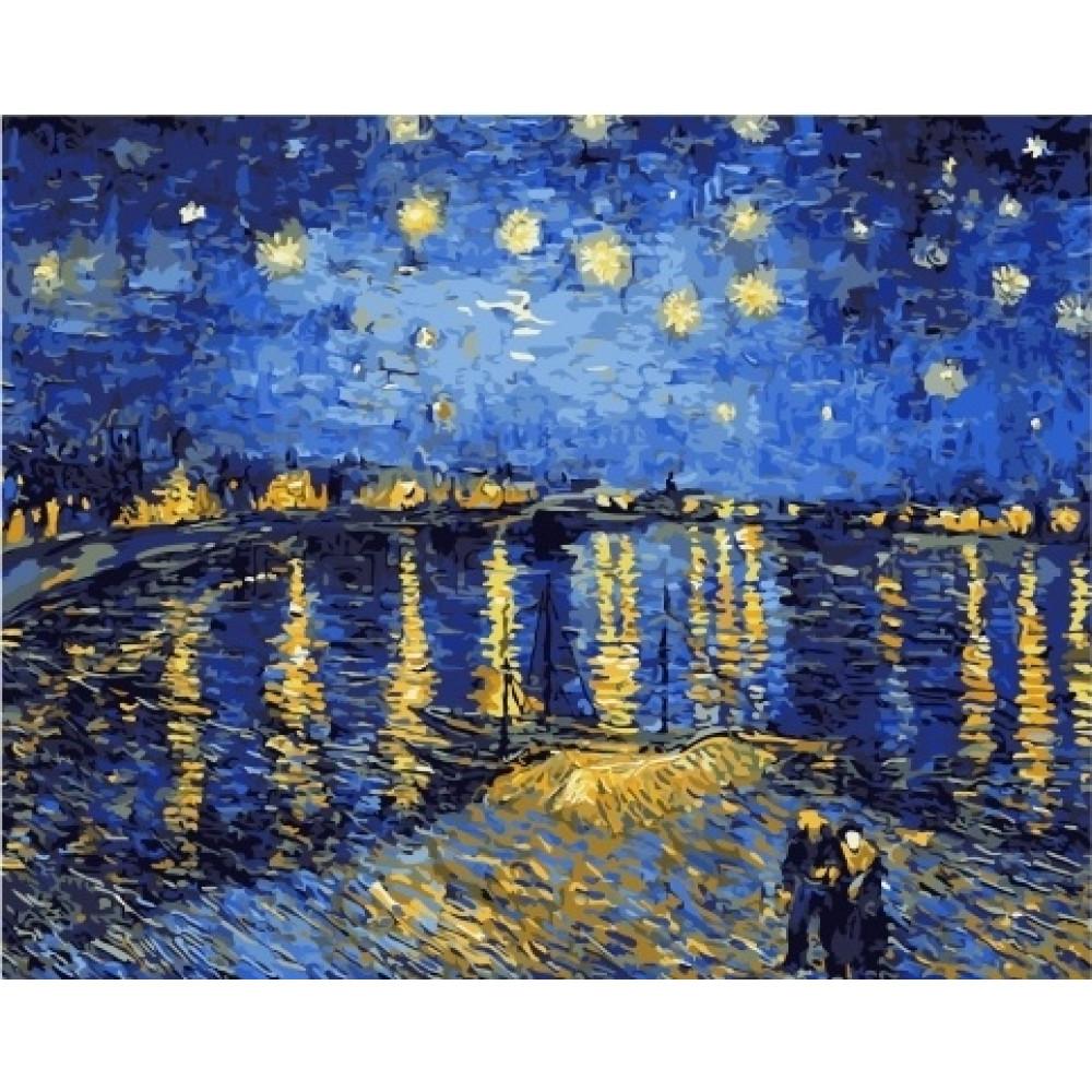 Звездная ночь, Ван Гог картина по номерам 40х50