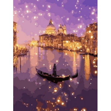 Ночная Италия картина по номерам 40х50