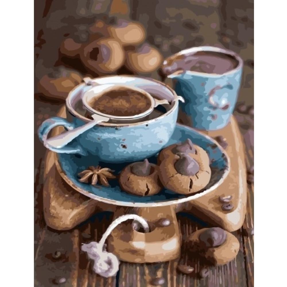 Кофе и печенье картина по номерам 40х50