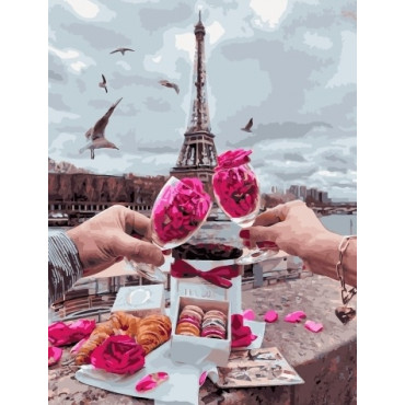Париж, круассаны, любовь картины по номерам 40х50