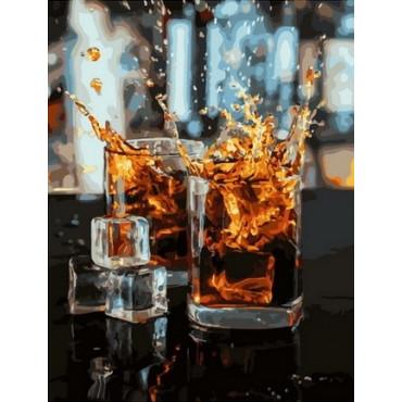 Виски со льдом картина по номерам 40х50
