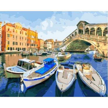 Яхт-клуб в Венеции картина по номерам 40х50