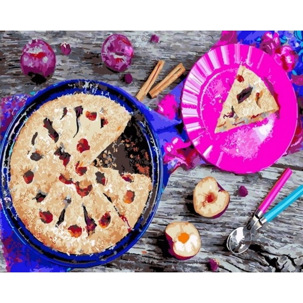 Аппетитный пирог картина с номерами