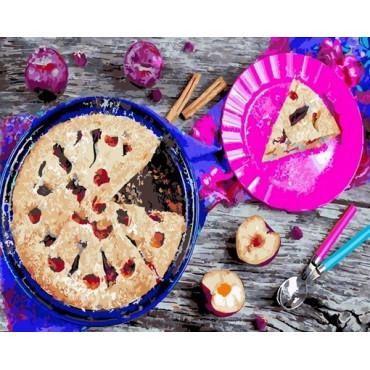 Аппетитный пирог картина по номерам 40х50
