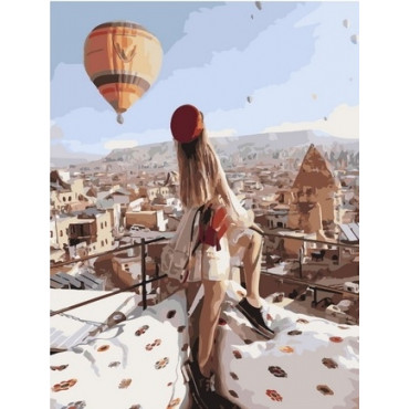 Девушка в Стамбуле картина по номерам 40х50